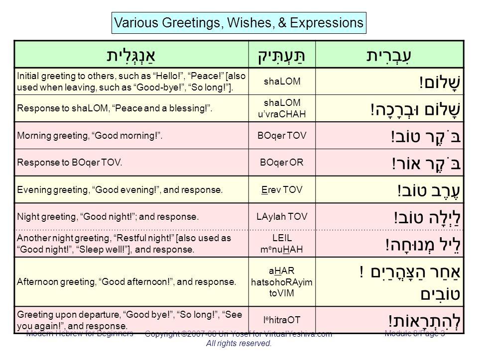 Modern hebrew for beginners copyright uri yosef for virtualyeshiva modern hebrew for beginners copyright uri yosef for virtualyeshiva all rights reserved m4hsunfo