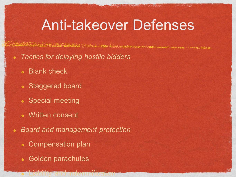 ANTI TAKEOVER STRATEGIES PDF