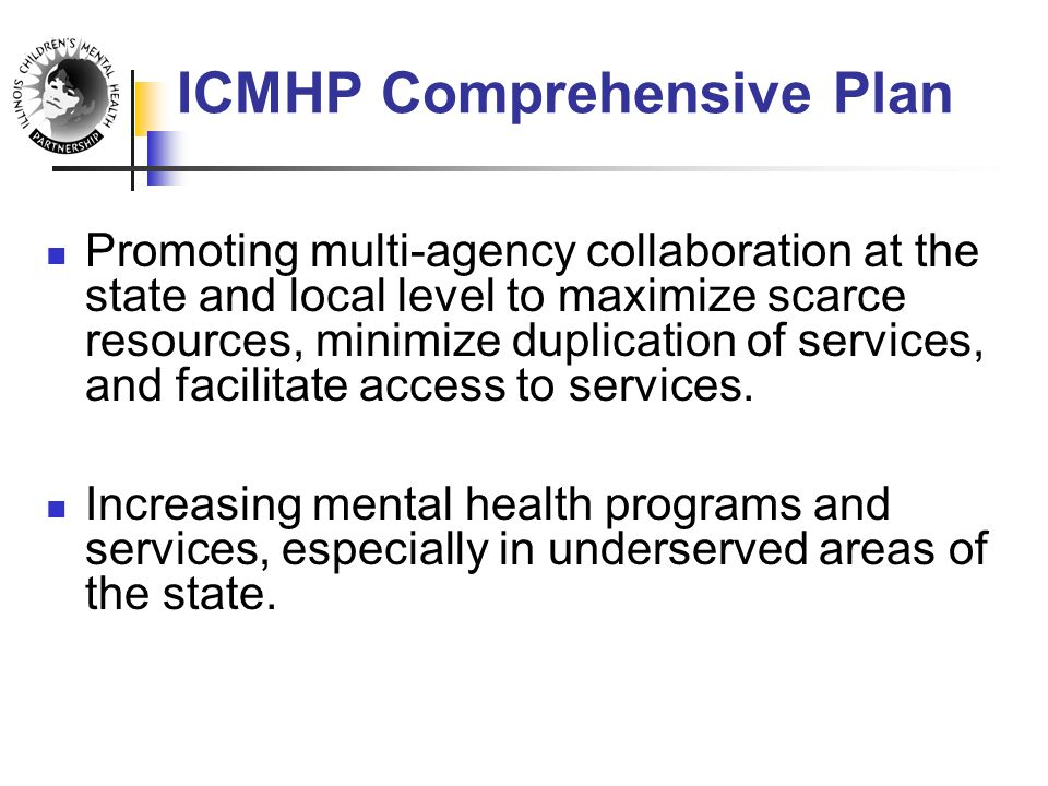 Promoting multi-agency collaboration at the state and local level to maximize scarce resources, minimize duplication of services, and facilitate access to services.