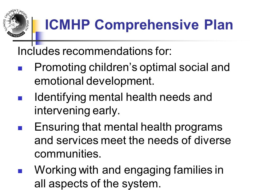 Includes recommendations for: Promoting children's optimal social and emotional development.