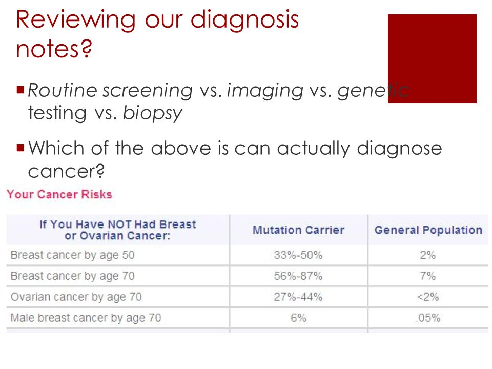 Reviewing our diagnosis notes.  Routine screening vs.