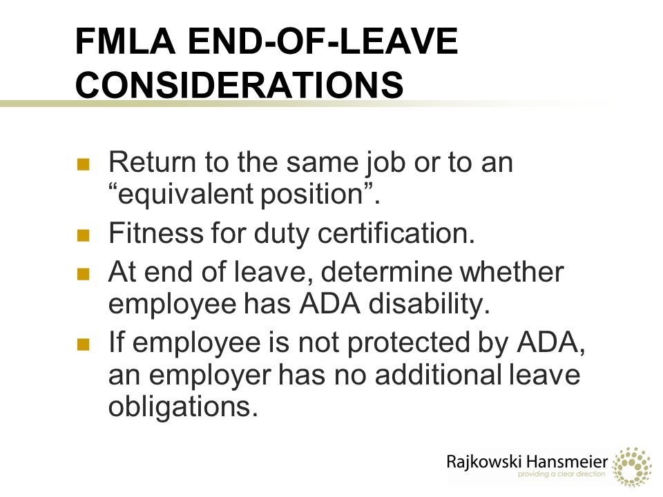 Interplay Between The Fmla Ada And Workers Compensation Thomas