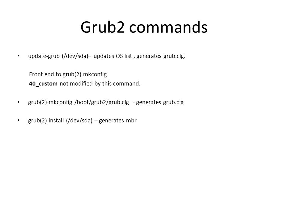 CIS 228 Grub Basics and Boot Security How we get there  - ppt download