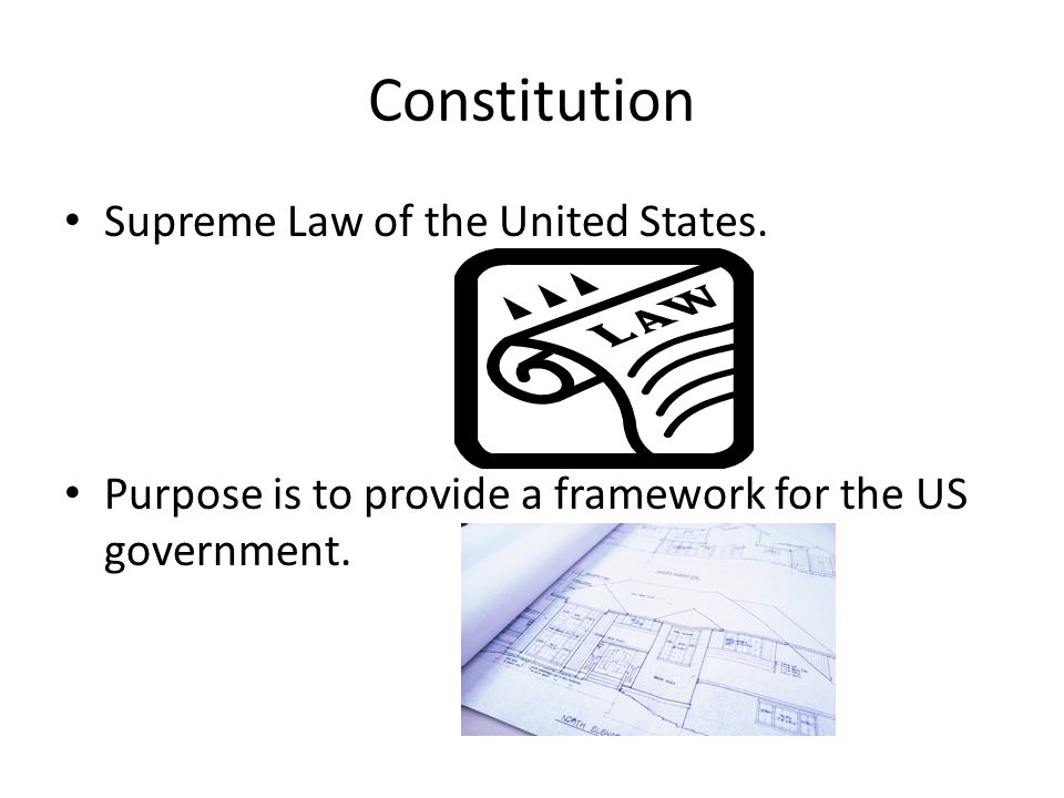 Constitution Supreme Law of the United States.