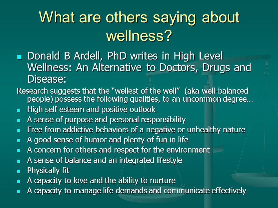 What are others saying about wellness.