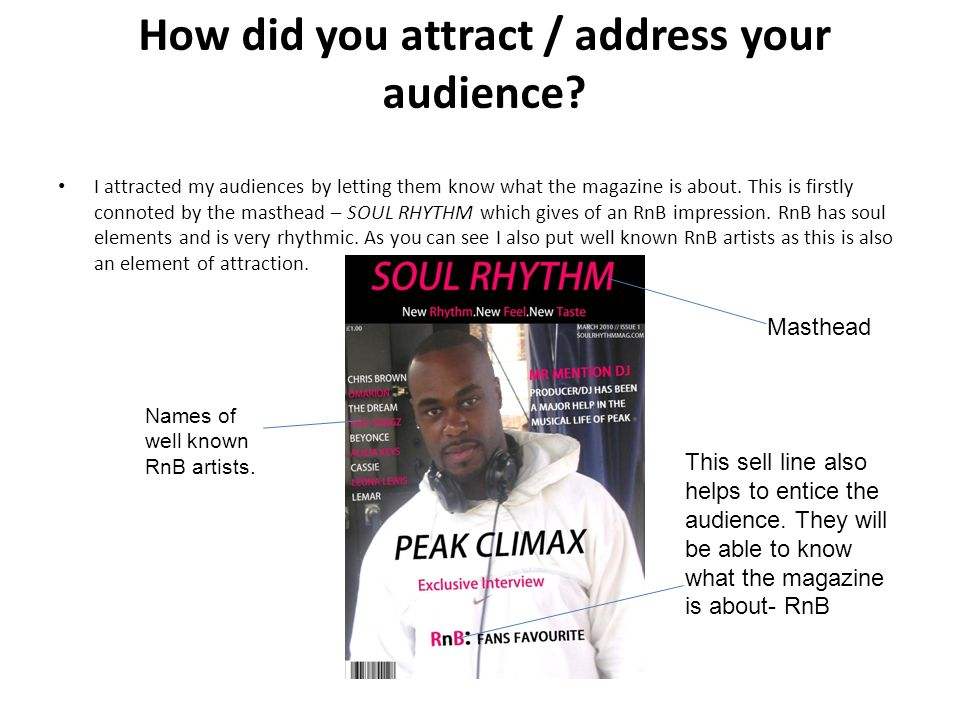 How did you attract / address your audience.