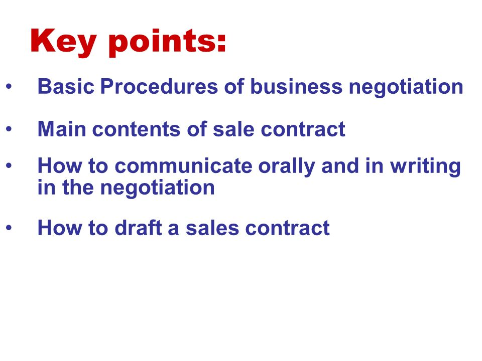 chapter8 9 business negotiation signing of contract ppt download