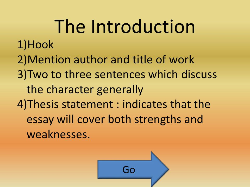 The Character Analysis Essay