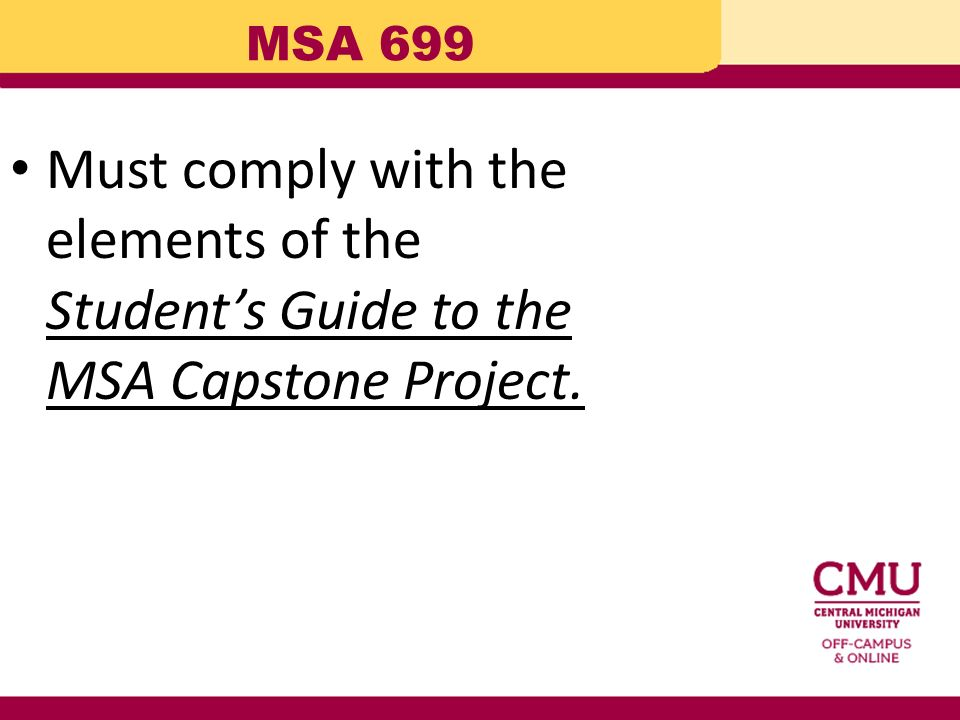 msa 699 capstone project