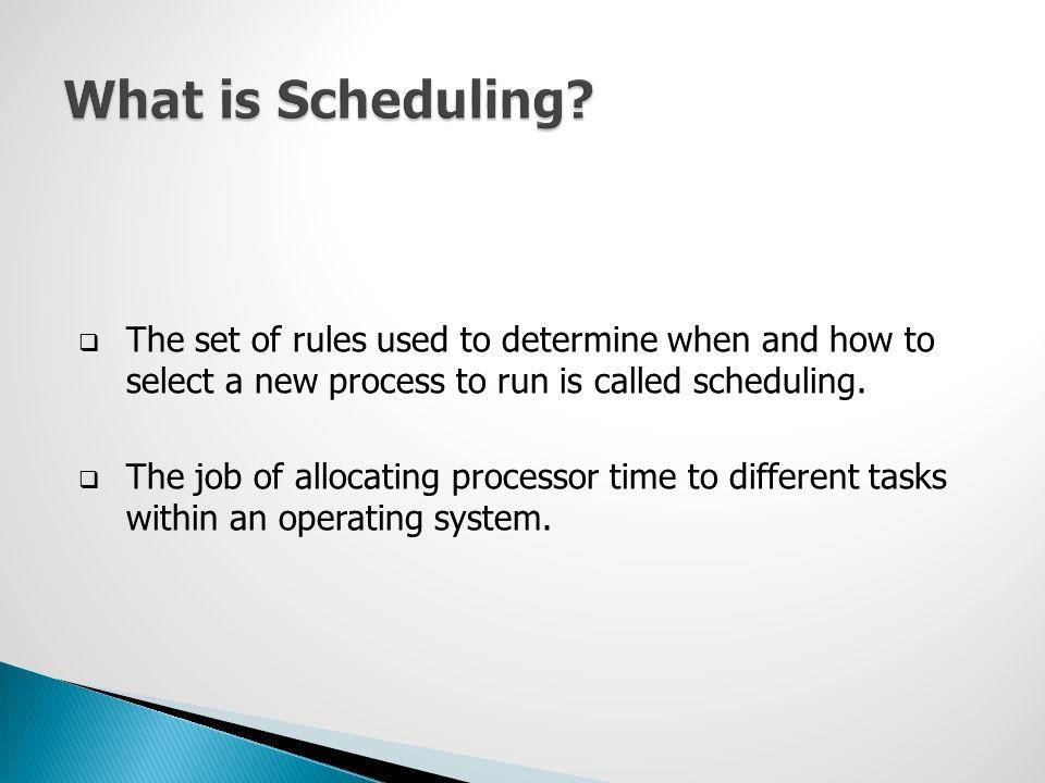 Scheduling  Linux Scheduling  Linux Scheduling Policy