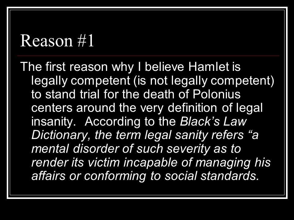 The HAMLET INSANITY DEBATE Rules Format for Speech Format