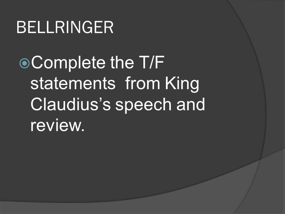 claudius speech