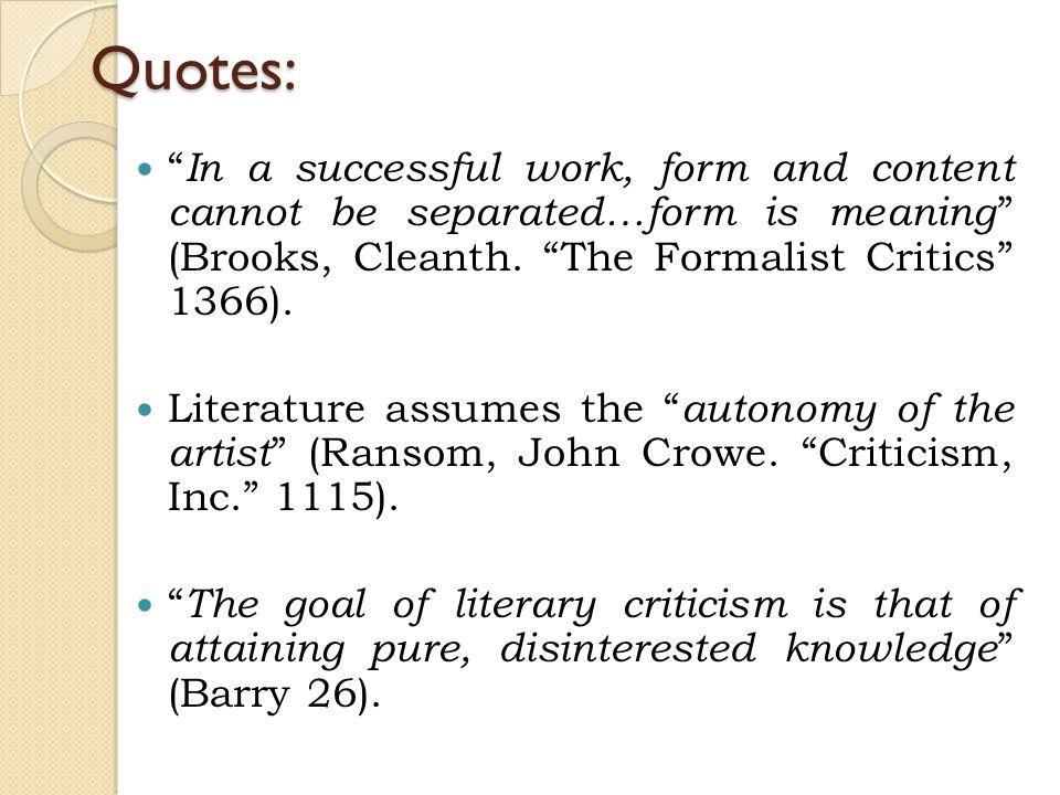 cleanth brooks the formalist critics