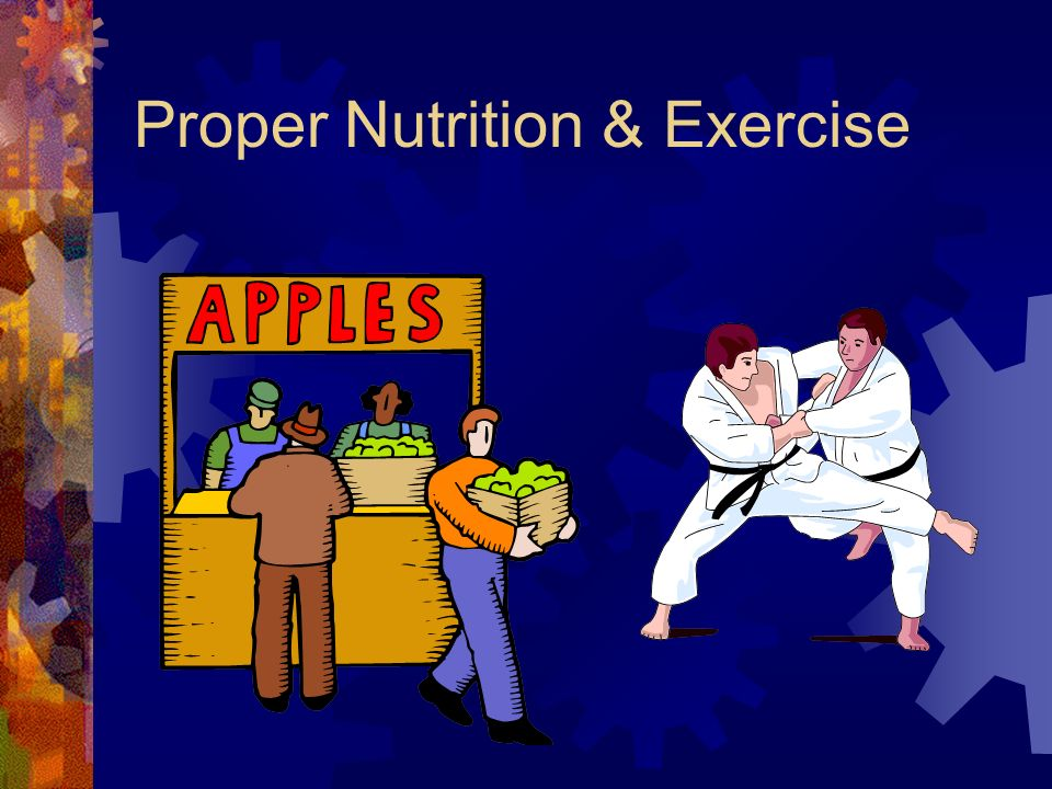 Proper Nutrition & Exercise