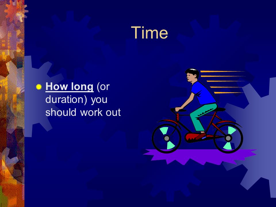 Time  How long (or duration) you should work out