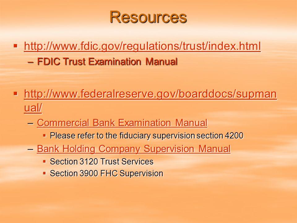 Fdic trust examination manual pdf | federal deposit insurance.