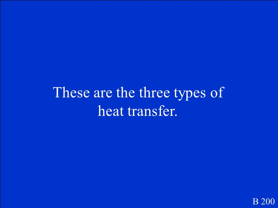 What is heat transfer B 100