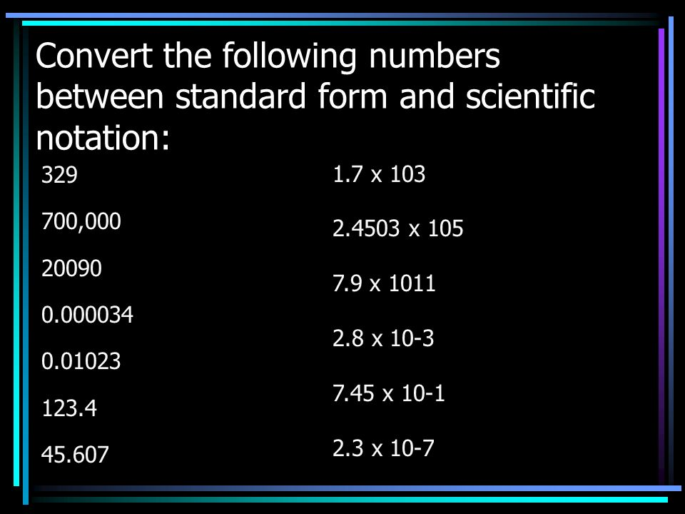 Scientific Notation Recognize And Use Scientific Notation Ppt