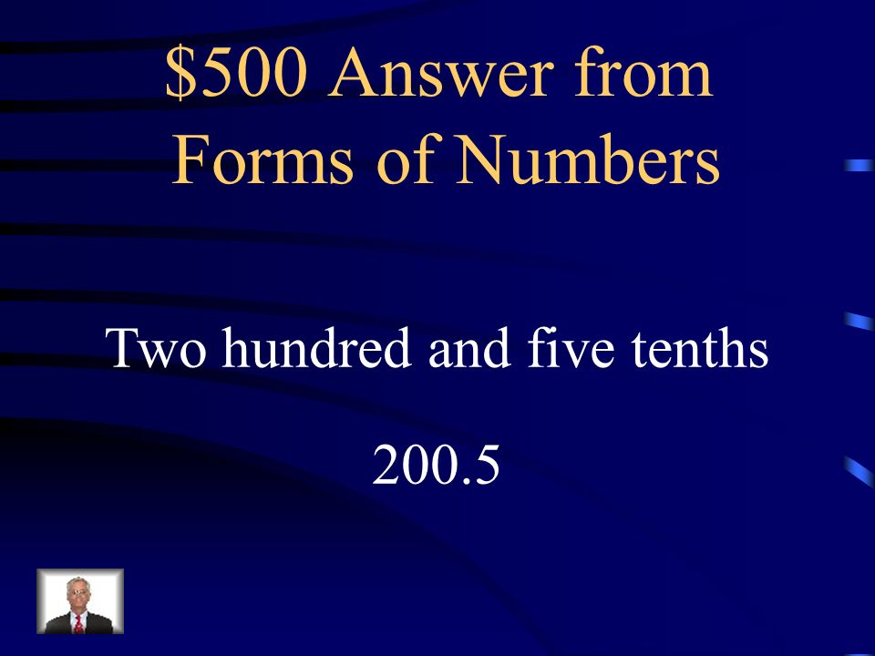 Jeopardy Directions In Jeopardy Remember The Answer Is In The Form