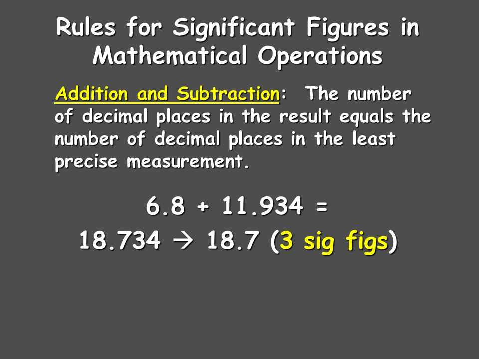 Sig Fig Practice # m x 7.0 m CalculationCalculator says:Answer m 2 23 m g ÷ 23.7 cm g/cm g/cm cm x cm cm cm m ÷ 3.0 s m/s240 m/s lb x 3.23 ft lb·ft 5870 lb·ft g ÷ 2.87 mL g/mL2.96 g/mL