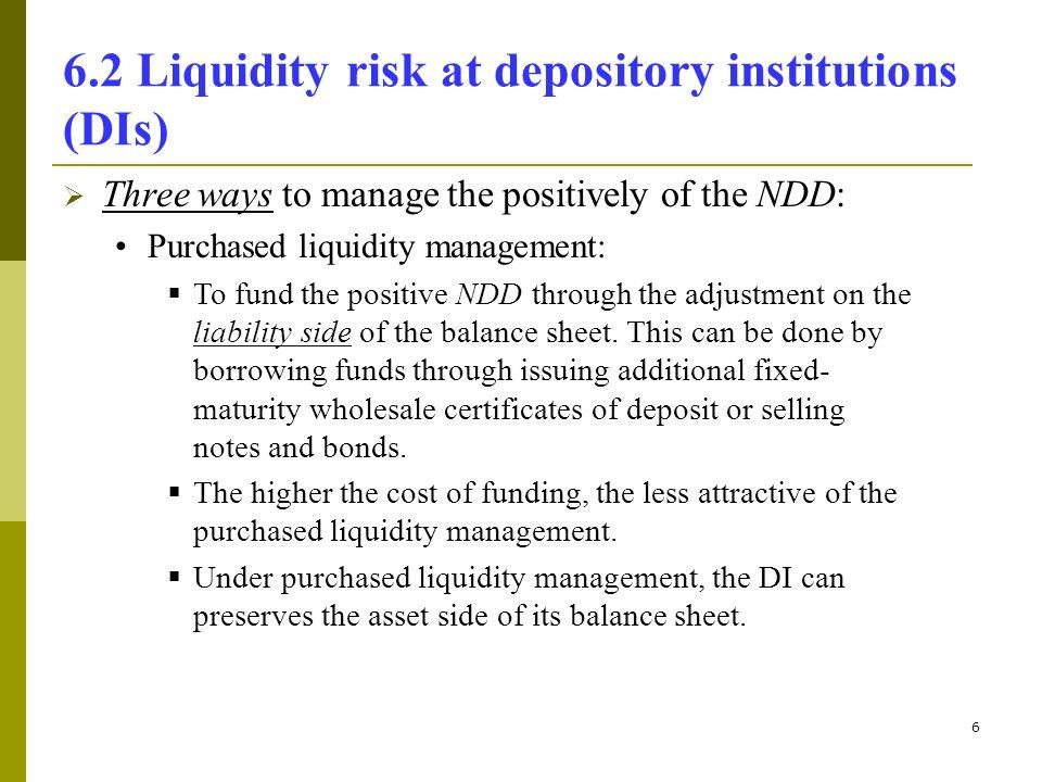 1 Topic 6 Measuring Liquidity Risk 61 Definition Of Liquidity Risk
