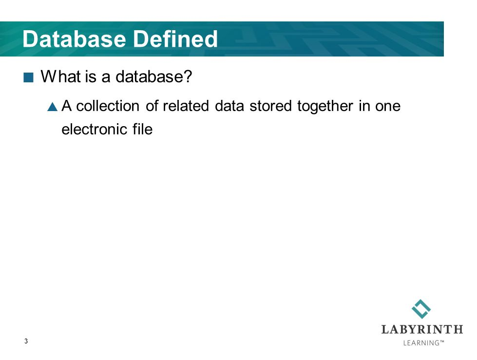Database Defined What is a database.