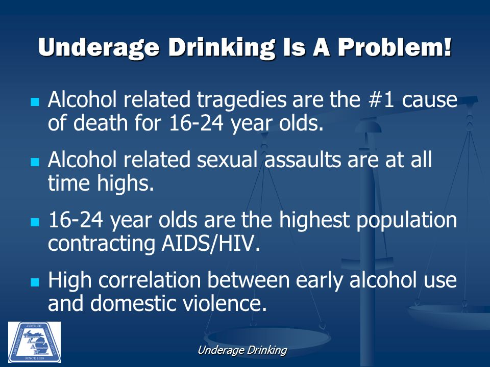 Underage Drinking Underage Drinking Is A Problem.