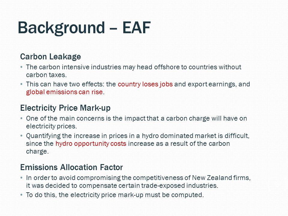CO 2 Charges: How can we assess the impact on electricity prices? Dr ...