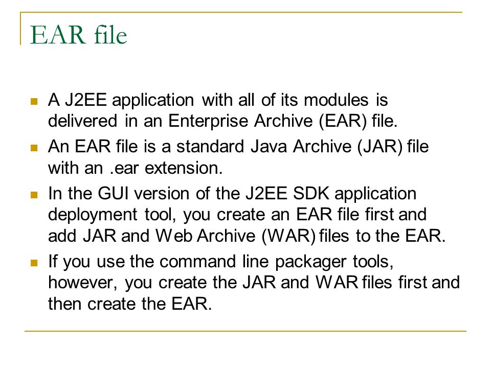 Distributed Multitiered Applications The J2EE platform uses