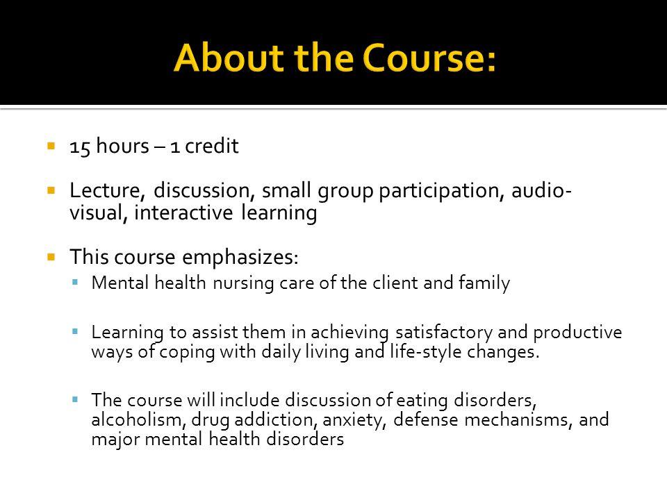 Welcome To Pvn 123 Mental Health Nursing Linda Dunckel Msn Ed