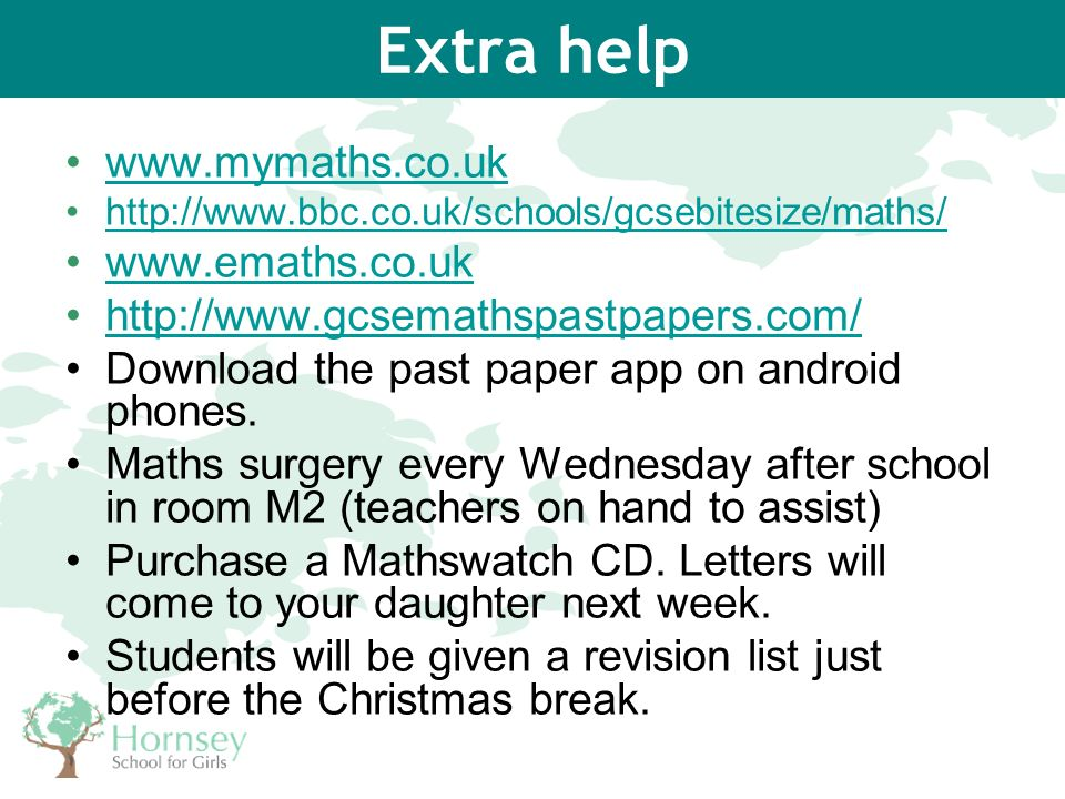 How can you help support your daughter in GCSE Mathematics