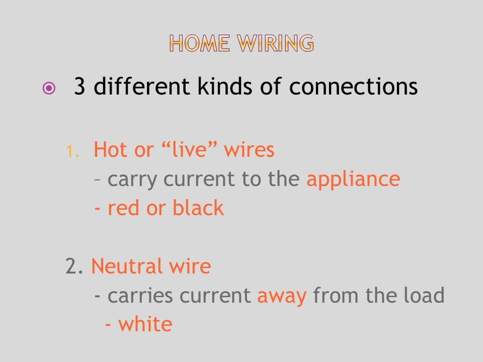  3 different kinds of connections 1.
