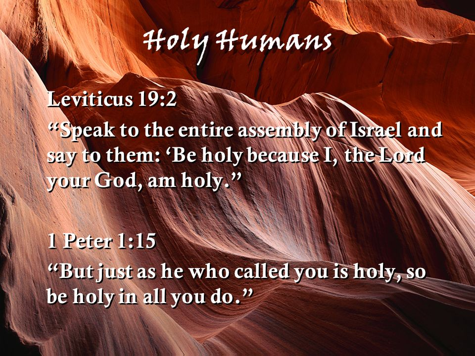 Our Holy God Our holiness doctrine is rooted in our belief