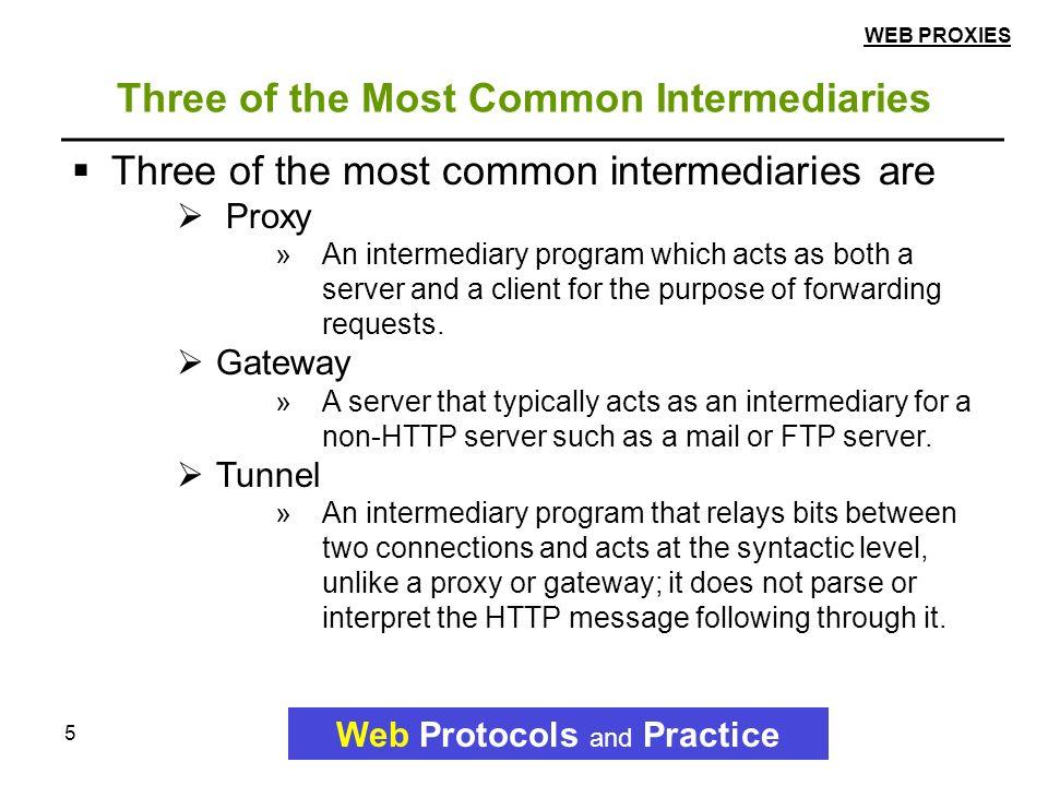 1 3 Web Proxies Web Protocols and Practice  2 Topics Web Protocols