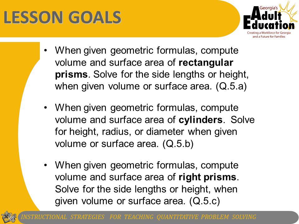 1 2 Instructional Strategies For Teaching Quantitative Problem