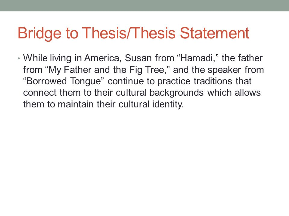 american identity thesis statement