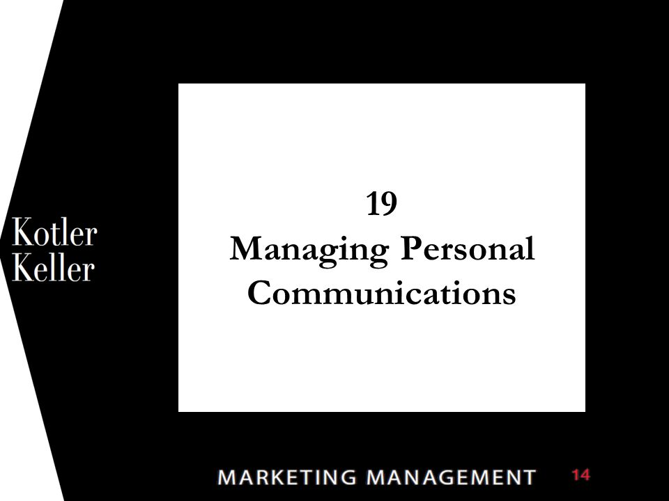 19 Managing Personal Communications 1