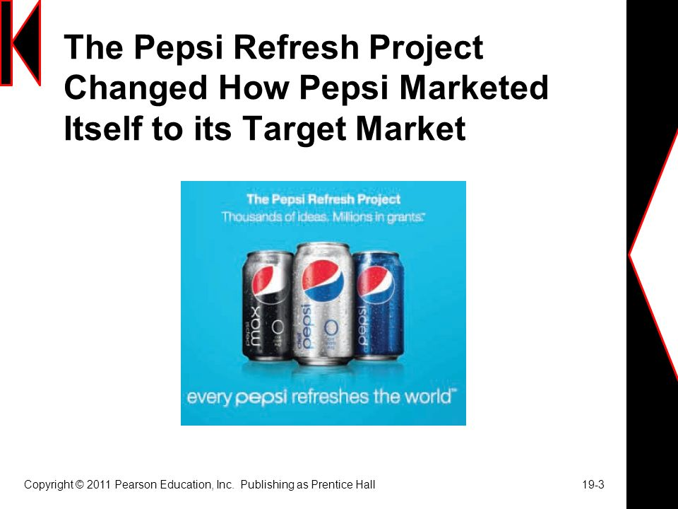 The Pepsi Refresh Project Changed How Pepsi Marketed Itself to its Target Market Copyright © 2011 Pearson Education, Inc.