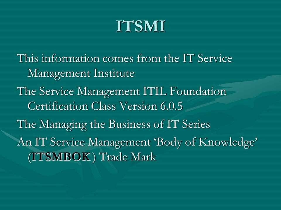 Itil Fundamentals June 12 2008 Pmi Svc Presentation Robert Trott