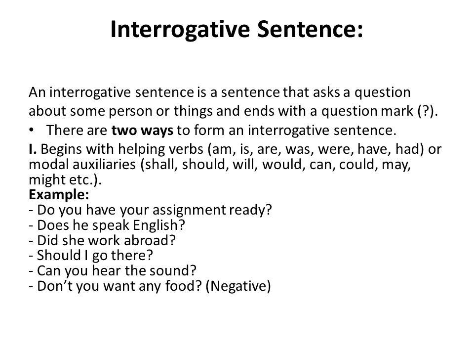 interrogative sentence examples