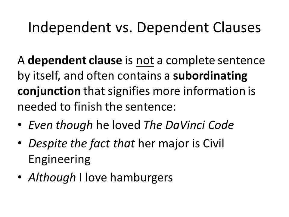 Independent vs.