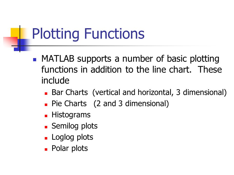 Chapter 5 Review: Plotting Introduction to MATLAB 7 Engineering ppt