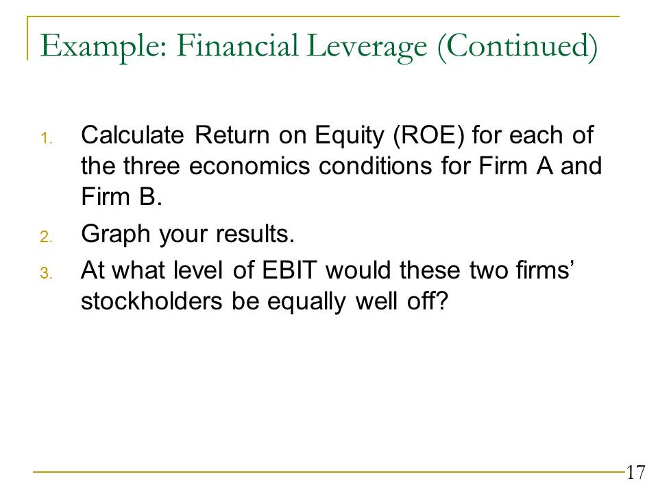 1 Capital Structure Decisions Ch 16 and Issues Business risk