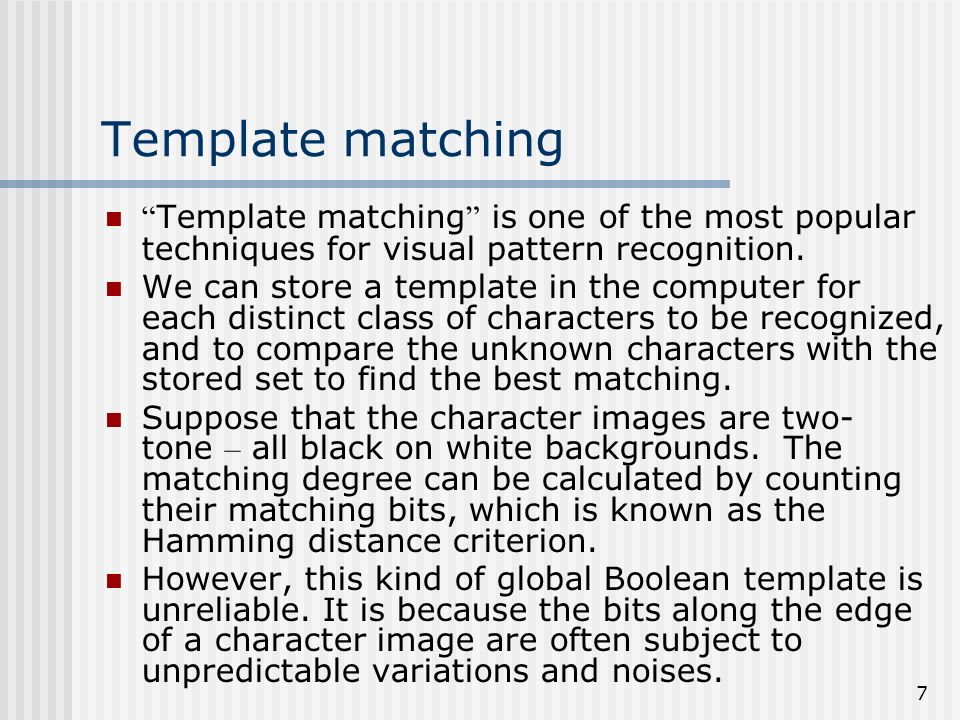 1 Template Based Classification Method For Chinese Character