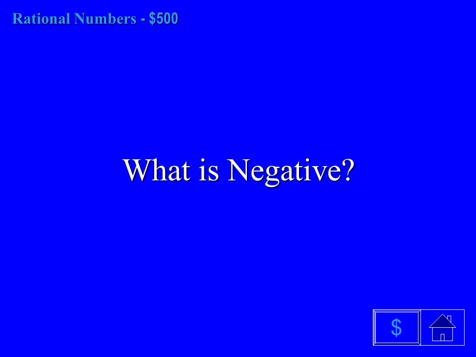 Rational Numbers - $400 What is the rule for multiplying fractions $