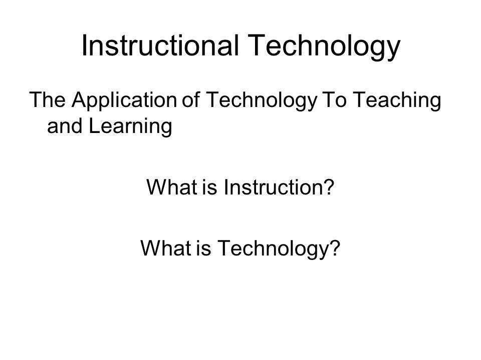 Instructional Technology Brian Newberry Instructional Technology
