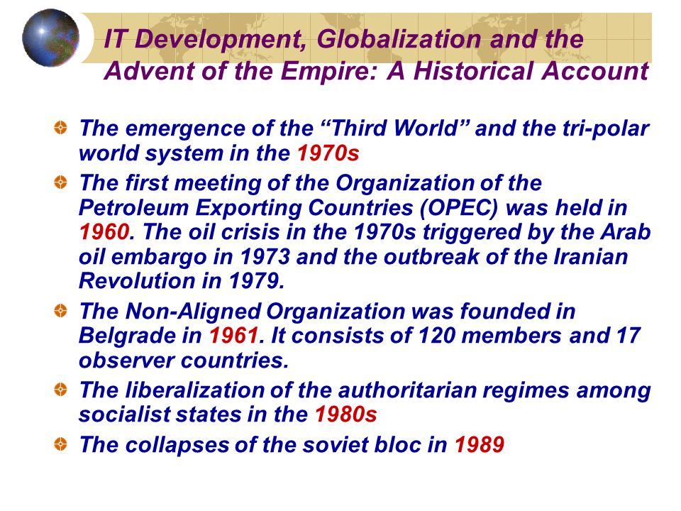 advent of globalization