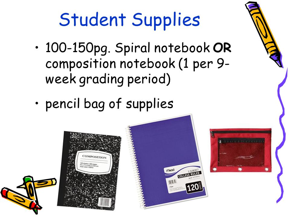Student Supplies pg.