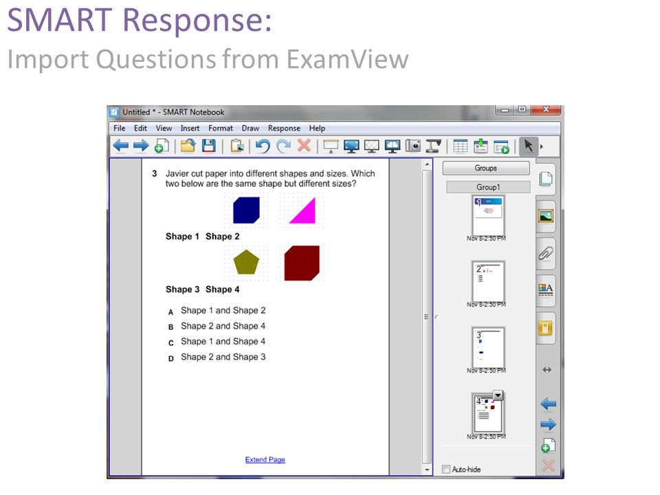 SMART Response: Import Questions from ExamView