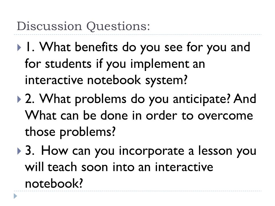 Discussion Questions:  1.